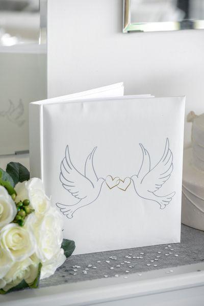 Gästbok till bröllop Duvor