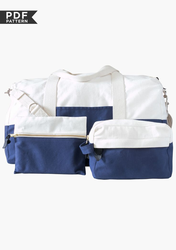 Portside Travel Set PDF - love that the medium (Dopp) bag has an outside zippered compartment too.