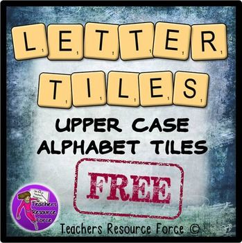 Free alphabet letter tiles clip art  This is a set of alphabet tiles clip art that would be great for teaching students to interactively spell words, or print them off larger for wall display and bulletin boards!  This set of high quality png files includes the upper case for the whole alphabet.