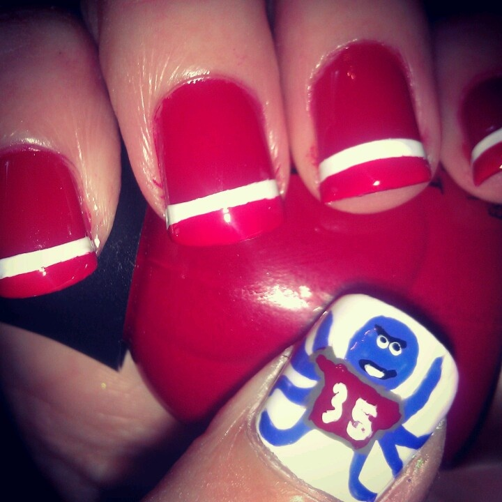 49 best detroit red wings nails hair and makeup images on detroit red wings nails by smashley prinsesfo Choice Image