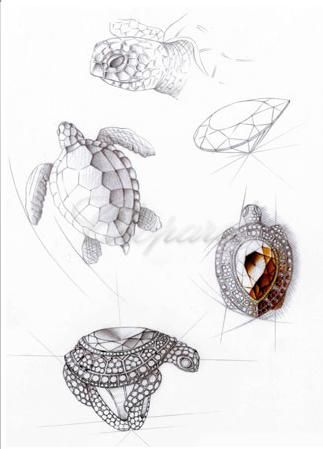 Chopard.Turtle ring sketch...♡