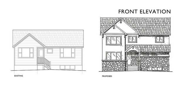 2nd Floor Elevation Design : Best nd floor addition craftsman images on pinterest
