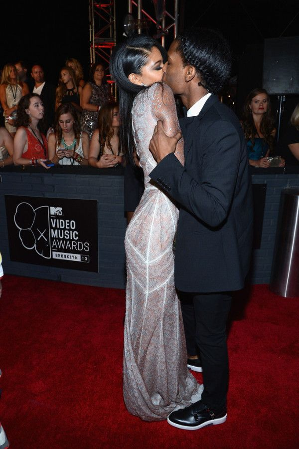 chanel iman & asap rocky. I love the grip he has on her.