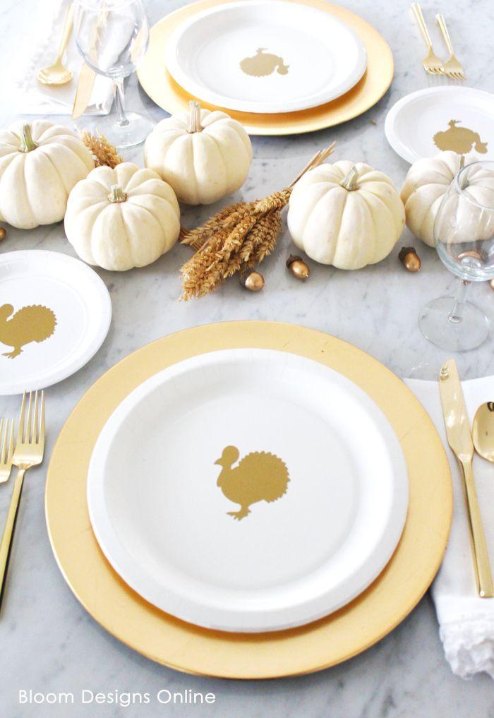 Thanksgiving Turkey Plates DIY #thanksgiving