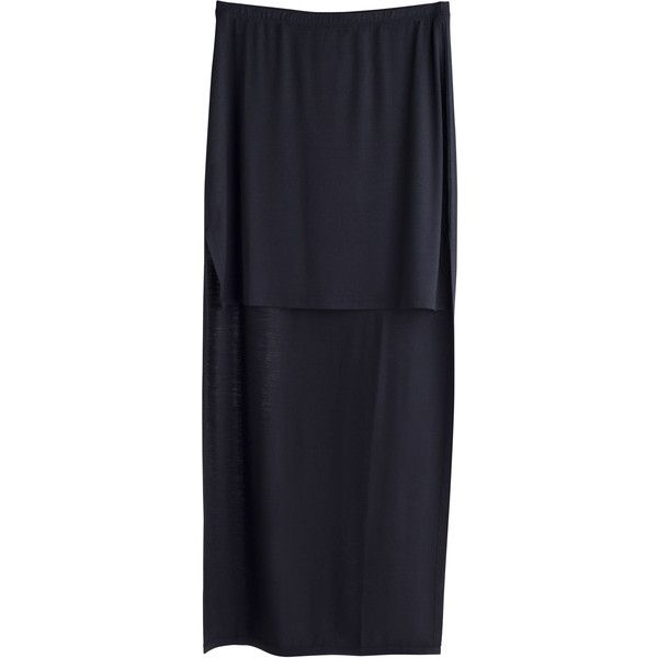 Skirts Moscow Skirt Black ❤ Liked On Polyvore Featuring Skirts, Bottoms,  Black, Maxi