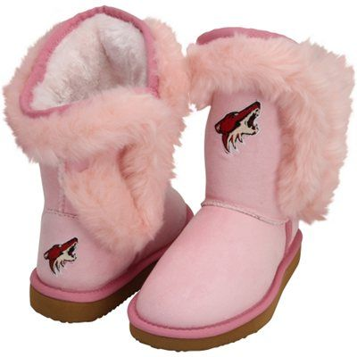 For Mia Cuce Arizona Coyotes Youth Girls Mini-Me Fanatic Boots - Pink
