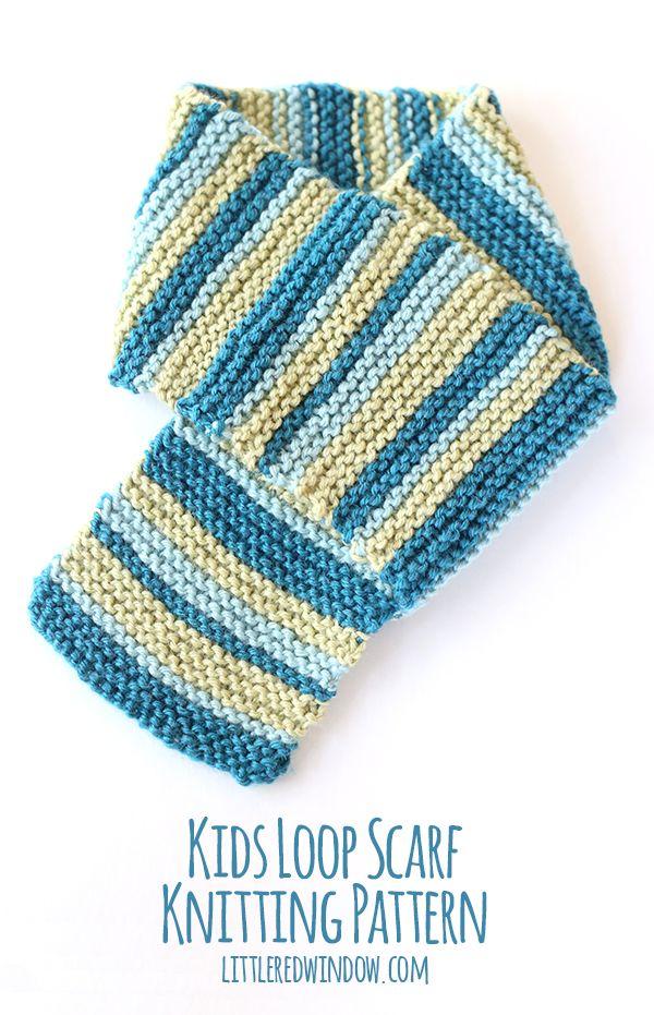 Toddler Scarf Knitting Pattern : Kids Loop Scarf Knitting Pattern Knitting Patterns ...