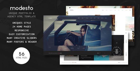 Modesto - Power Unique Portfolio, Photography & Agency HTML Template - Portfolio Creative
