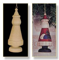 Woodturned and painted Santa                                                                                                                                                                                 More