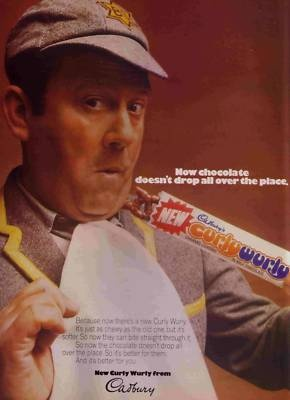 Cadbury Curly Wurly. Stick in yer teeth caramelly goodness. Terry Scott you were kidding no-one!