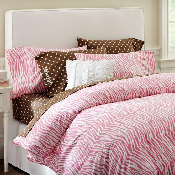 zebra duvet cover pillowcases pbteen