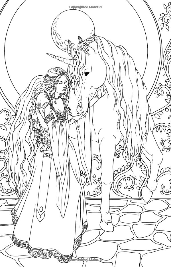Advanced Coloring Pages Of Fairies : Advanced fairy coloring pages printable