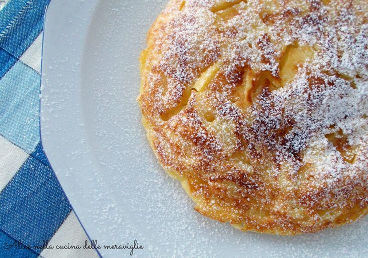 Frittata dolce alle mele, ricetta dolce cotto in padella