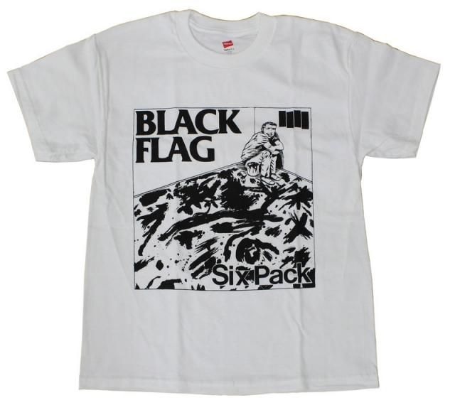 Black Flag Six Pack Tee Band Tshirts Black Flag T Shirt