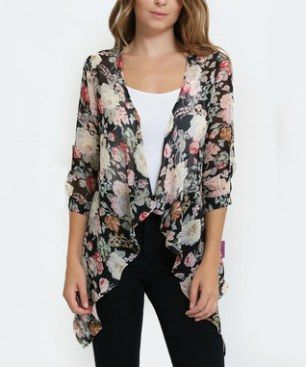 Black & Pink Floral Chiffon Kimono I really like finding good online discount clothing stores as I love to shop for all kinds of fashion and accessories. I like finding cute, trendy and unique styles that are affordable and on sale. I typically will buy women's dresses, shirts and skirts online as there are so many styles, colors and fabrics available. You will be more than happy with your wardrobe after finding so many cute clothing and accessories at my favorite online discount clothing