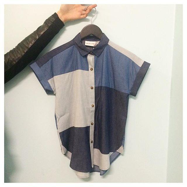 Square Shirt by @vanishingelephant = Panelled chambray perfection