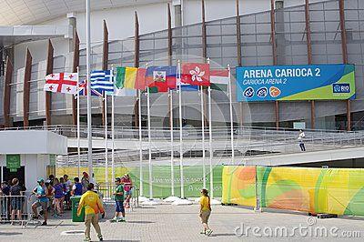 Rio2016 Olympics Carioca Arena 2,  an indoor stadium in Barra da Tijuca in Rio de Janeiro, Brazil. The venue hosted judo and wrestling at the 2016 Summer Olympics.