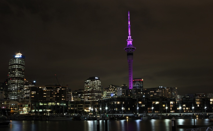 @ Sky Tower - Lit Purple for World Elder Abuse Awareness Day