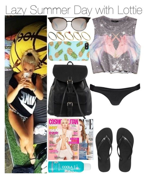 Lazy Summer Day with Lottie by mrspayne-1d on Polyvore featuring mode, Forever 21, Boohoo, Havaianas, NLY Accessories, ASOS, Quay, J.Crew, River Island and Cyrus