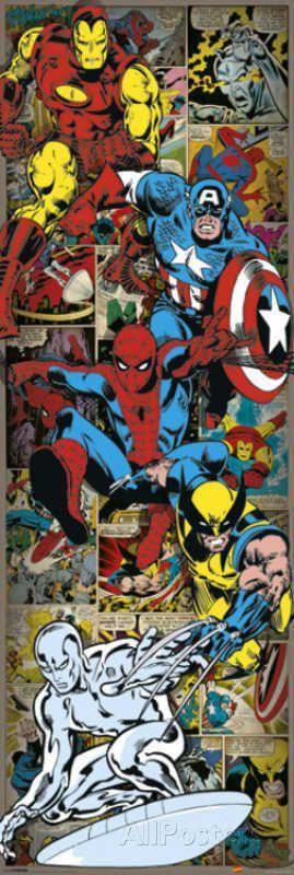 Door Wall Poster - Marvel Comics – Heroes Retro