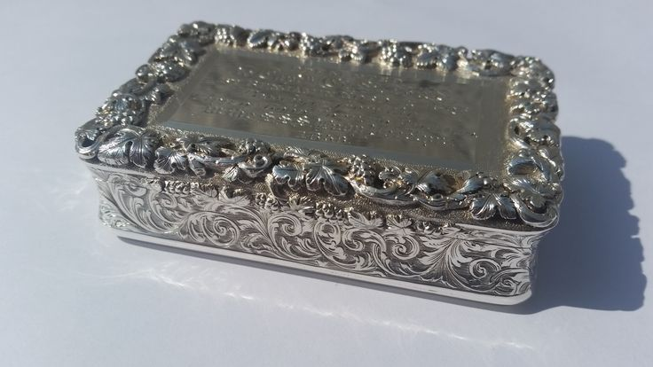 A c1850's hallmarked silver presentation snuff box with lots of historical significance. Given by Benjamin Norden (regarded  as the founder of Judaism in South Africa) to the Captain of the steamship Lady Jocelyn (brought the Cape of Good Hope's 1st constitution to SA).