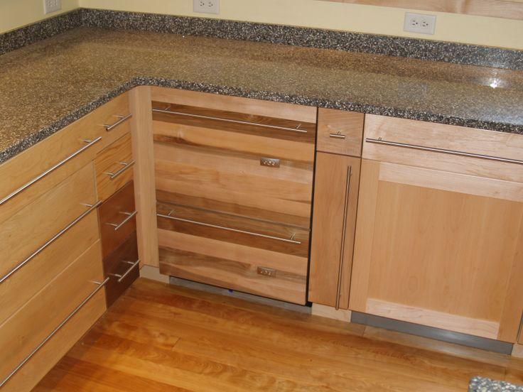 Custom maple dishwasher panel for miele dishwasher - Miele kitchen cabinets ...