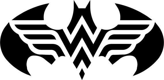 Vinyl Decal Sticker - Batman Wonder Woman Logo decal inspired by Justice League for Windows, Cars, Laptops, Macbook etc
