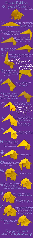 How to Fold Origami Elephants by Nitonale