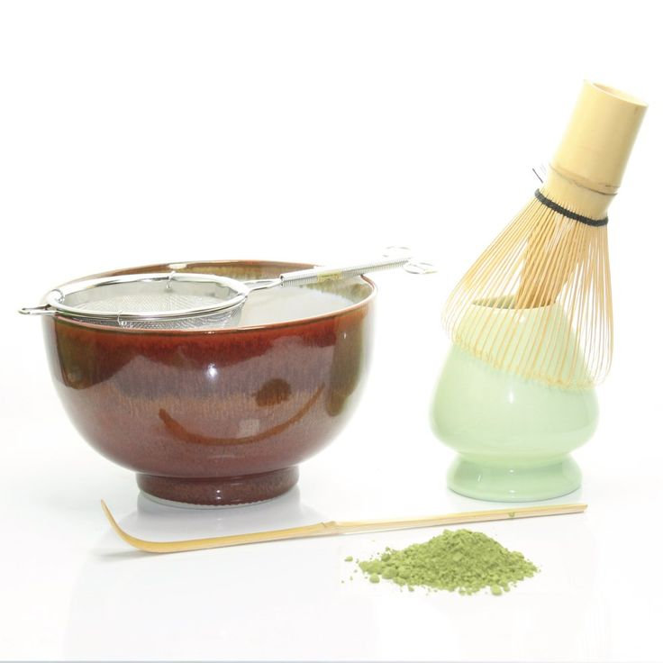 Tealyra - Green Matcha Tea Ceremony Gift Set - Made in Japan - Bamboo Whisk & Scoop - Premium Izu Matcha Tea Powder - Complete Matcha Start Up Set (Red)