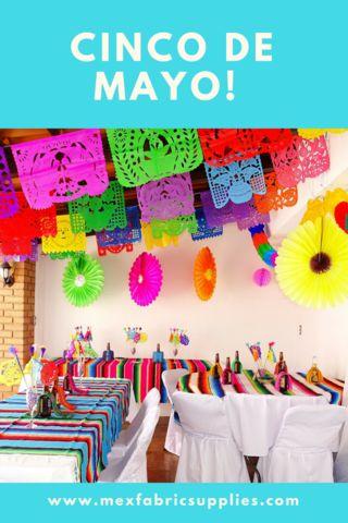 Cinco De Mayo Flag Banner Fiesta Decorations Garland Mexican Party Supplies