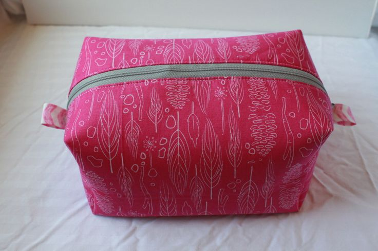 Directions for easy zippered box pouch