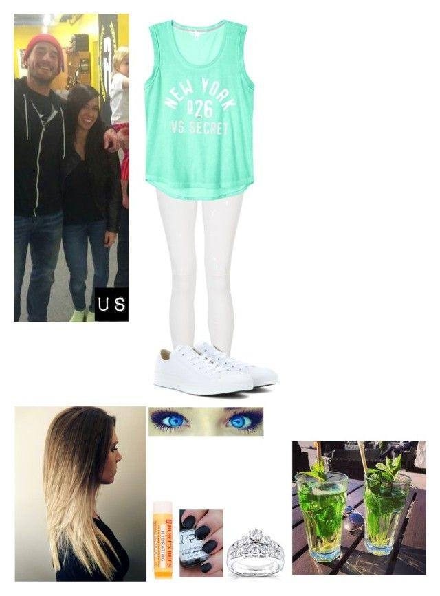 """""""Out With My Brother, CM Punk"""" by caton-486 ❤ liked on Polyvore featuring Annello, Quiz, Burt's Bees and Converse"""