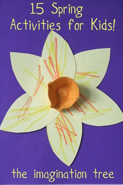 15 fun activities to keep your kids busy this Spring!Ideas, 15 Spring, Activities For Kids, Tissue Paper Flower, Imagine Trees, St David, Spring Activities, Eggs Cartons, Spring Crafts