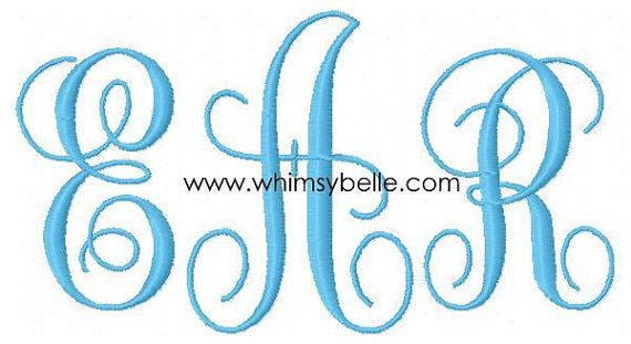 3 FONTS for the PRICE of TWO You choose any 3 fonts you want  Alphabet Monogramming Sewing Machine Embroidery Design. $9.98, via Etsy.