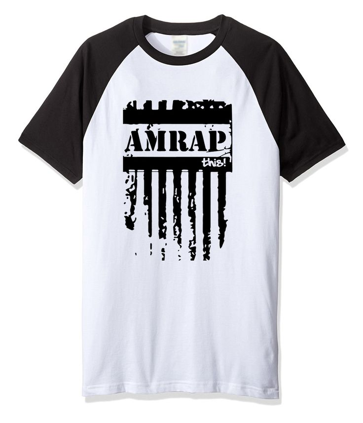 AMRAP letter printed 2017 men's T-shirts summer streetwear crossfit t shirt for men fashion sportswear harajuku T-shirt top #Affiliate