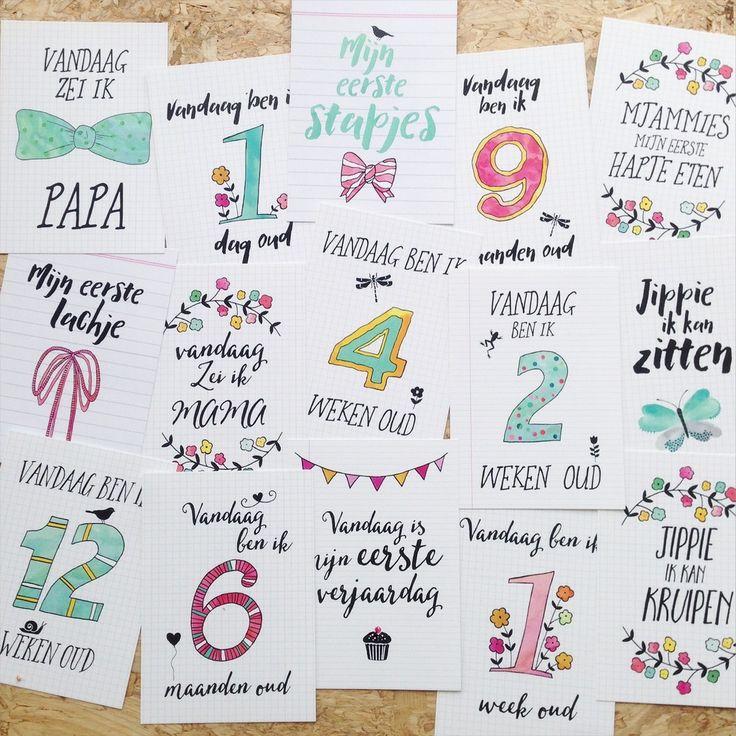 Baby momenten kaarten - De website van liefskarlijn!