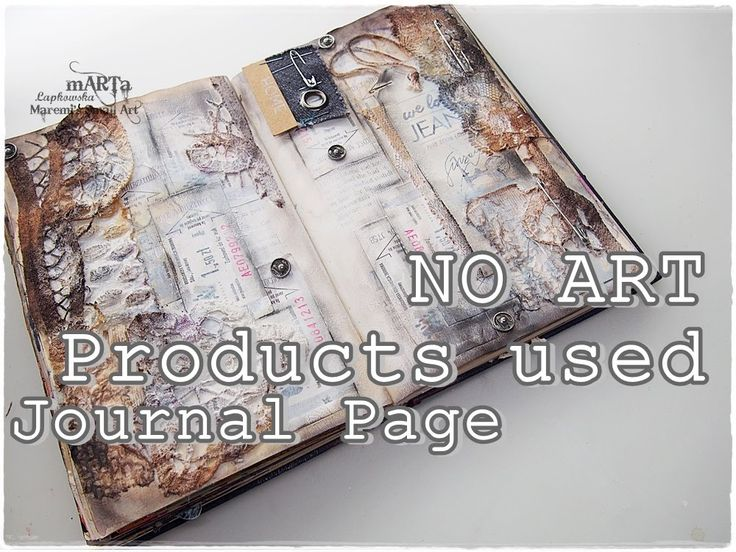 100% Recycled Junk Journal Page Tutorial on BUDGET