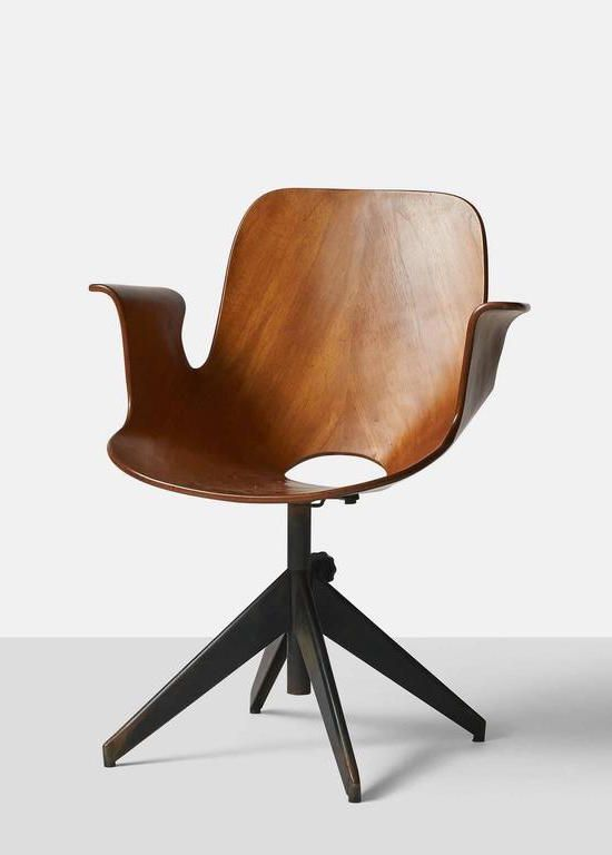 Vittorio Nobili - Medea Swivel Armchair, 1956. sold by 1stdibs.