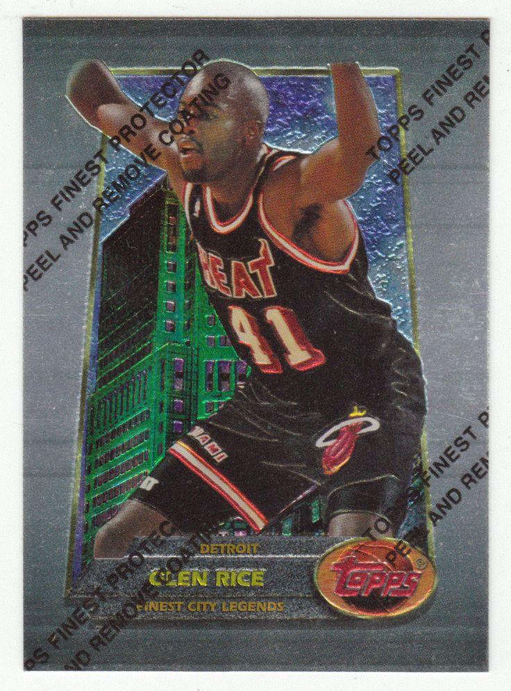 Glen Rice # 102 - 1994-95 Topps Finest Basketball