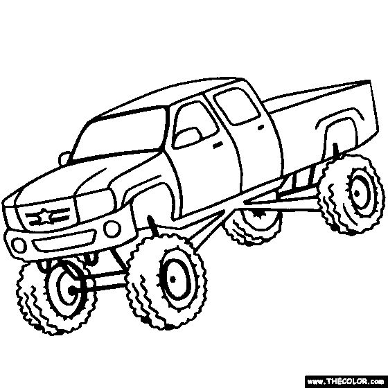 Coloring Page Monster Truck | Big Monster Trucks