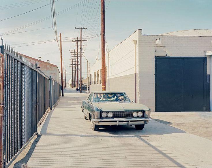 Menschlicher Stau: Die Straße im Fashion District von Los Angeles ist leer,...