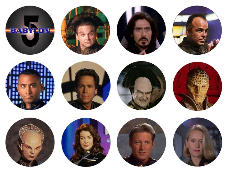 Babylon 5 Set of 1 Inch Pinback Buttons Badges Pins - $5.49