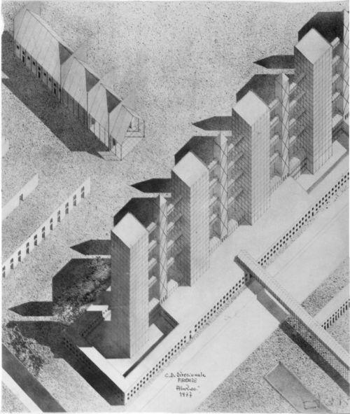 Aldo Rossi- Axo of Centro Direzionale, 1977