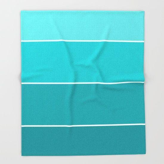 Turquoise Paint Sample by Bestree Art Designs, $129. https://society6.com/product/turquoise-paint-samples_throw-blanket#64=439