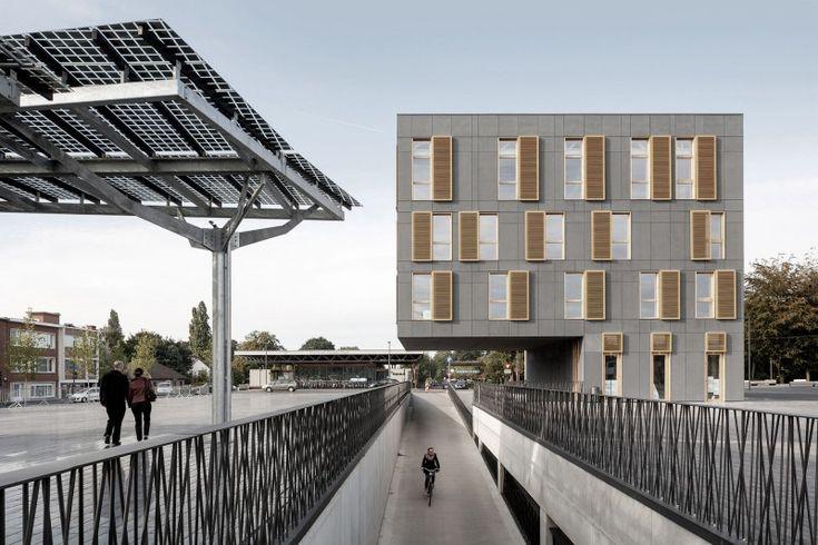Belgicko - Mortsel Názov projektu: City Square Mortsel Architekt : Abscis Architecten Produkt : EQUITONE