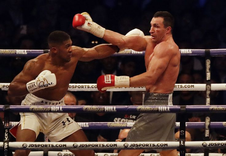Anthony Joshua beats Wladimir Klitschko in a heavyweight bout for the ages