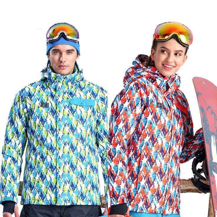 2017 Men's Women's Winter Waterproof Skiing Jackets Outdoor Tectop Coats Hooded Sportswear For Hiking Camping Snowboarding VA079