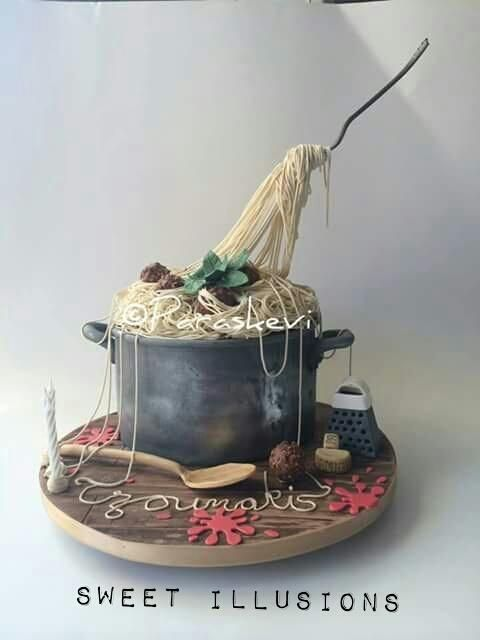 Not this cake but i love the cakes by sweet illusions  Gravity defying spaghetti and meatball cake - Cake by Sweet Illusions