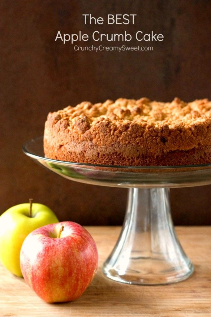 The Best Apple Crumb Cake – the apple crumb cake of your dreams! With tons of apples and the best crumb topping ever!