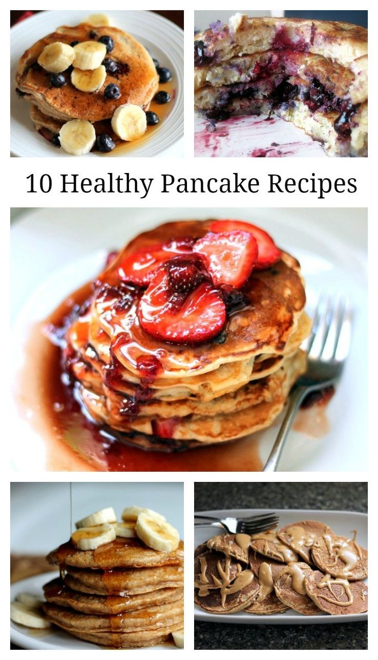 10 Healthy Pancakes You Need to Try! These recipes are amazing! @moniquevolz